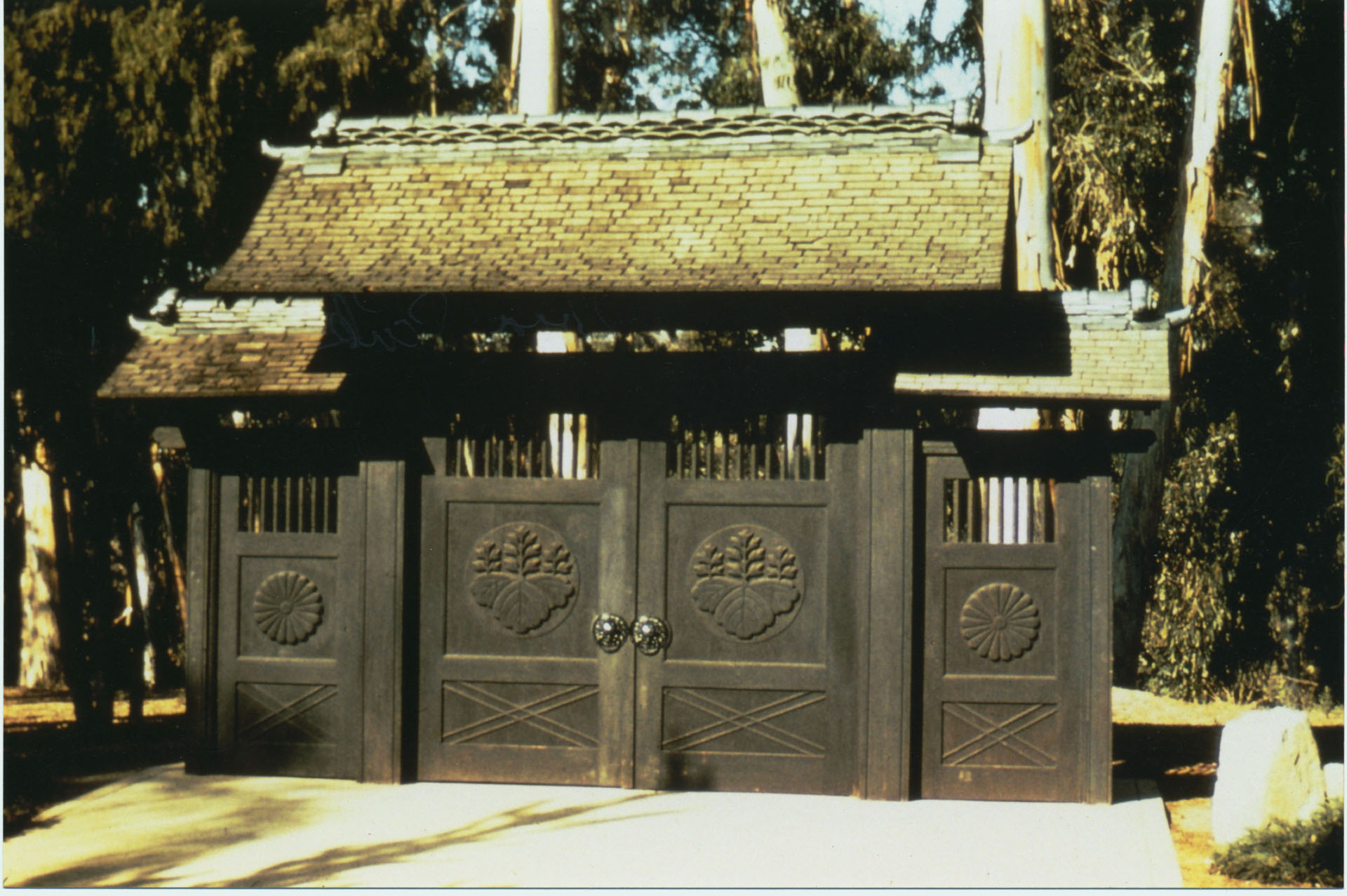 Original Garden Entrance Gates Constructed In Japan